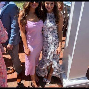 Bronx and Banco White & Navy Santorini Gown XS
